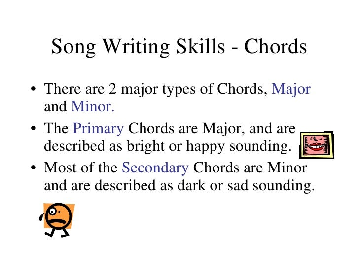 Song Writing Skills Chords