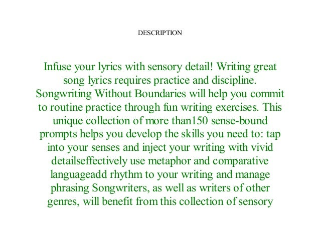 Songwriting Without Boundaries Lyric Writing Exercises for Finding Your Voice