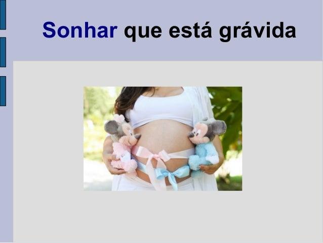 Sonhar que está grávida