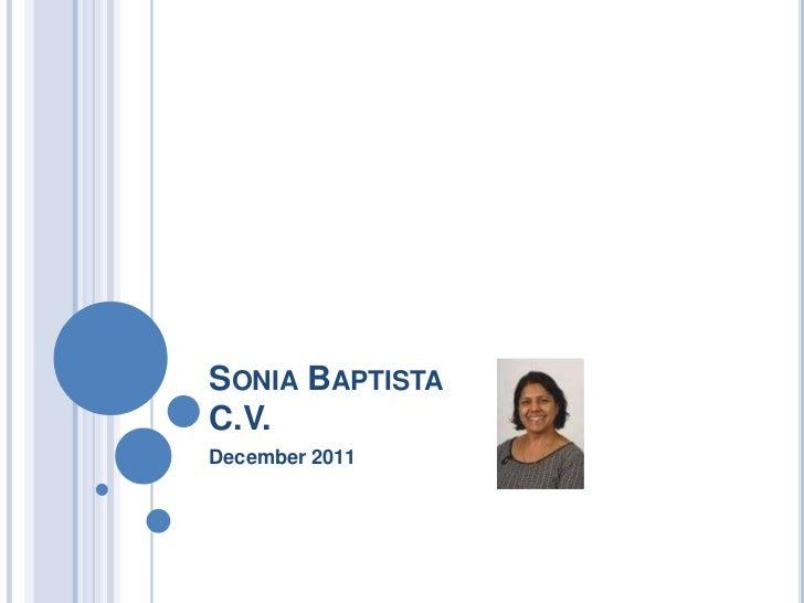 SONIA BAPTISTAC.V.December 2011