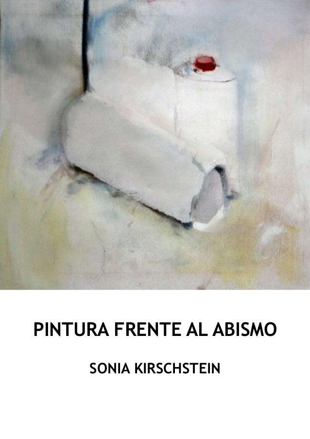 PINTURA FRENTE AL ABISMO SONIA KIRSCHSTEIN