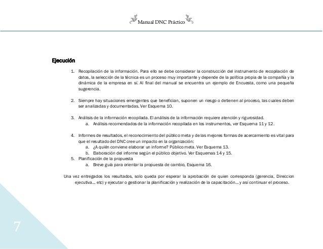 Manual DNC Práctico 7 Ejecución 1. Recopilación de la información. Para ello se debe considerar la construcción del instru...
