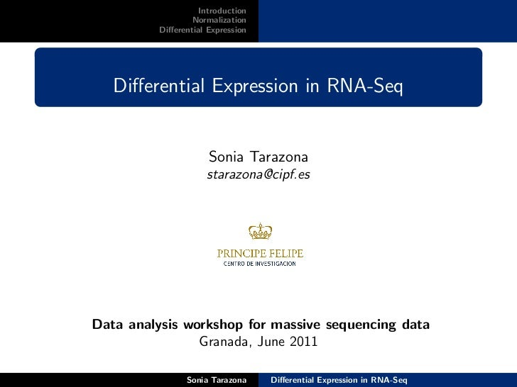 Introduction                  Normalization          Differential Expression   Differential Expression in RNA-Seq           ...