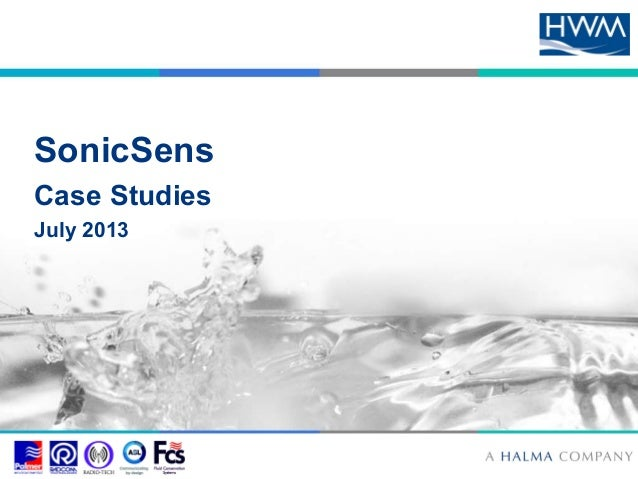 SonicSens  Case Studies  July 2013