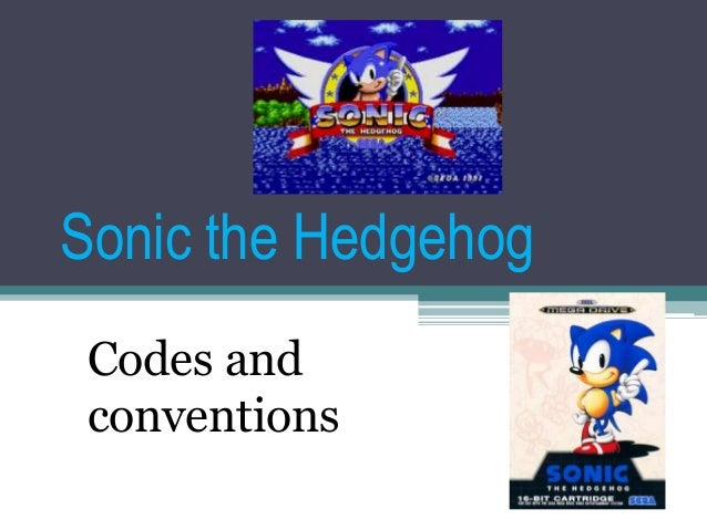 Sonic the Hedgehog Codes and conventions