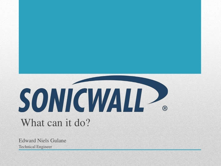 Sonicwall features