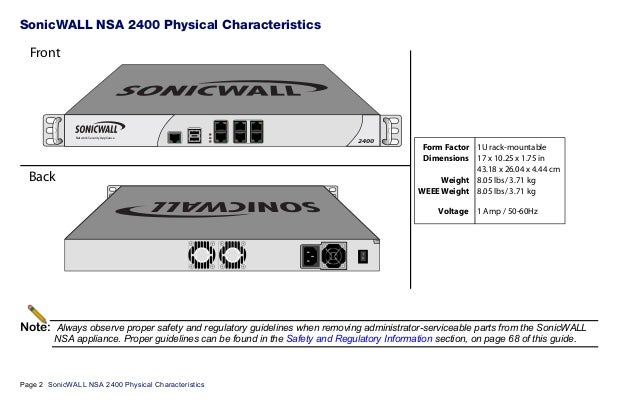 Network Security Appliance (NSA) Series | SonicWall