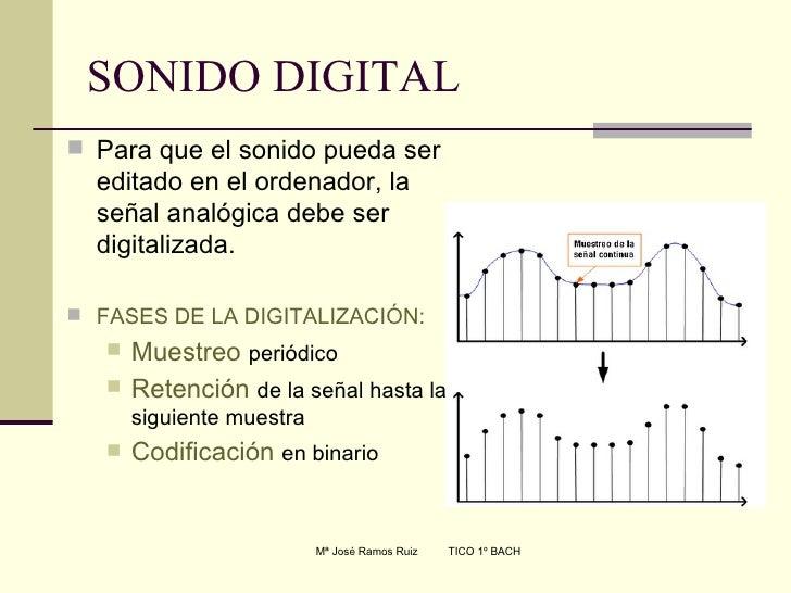 SONIDO DIGITAL <ul><li>Para que el sonido pueda ser editado en el ordenador, la señal analógica debe ser digitalizada. </l...