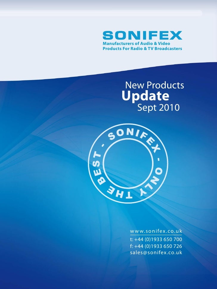 Sonifex Product Update Sept10