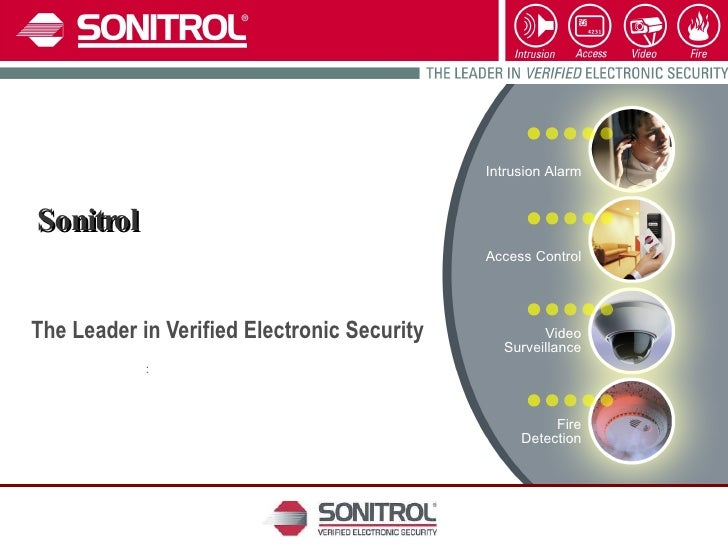 Sonitrol  The Leader in Verified Electronic Security  :