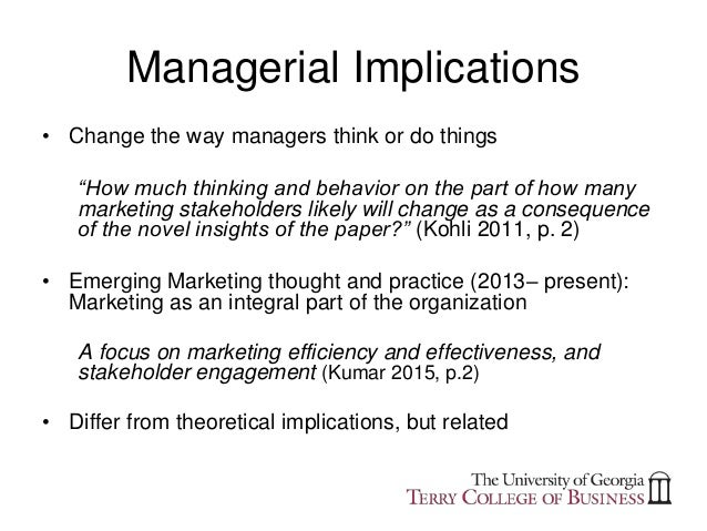implication pertaining to management