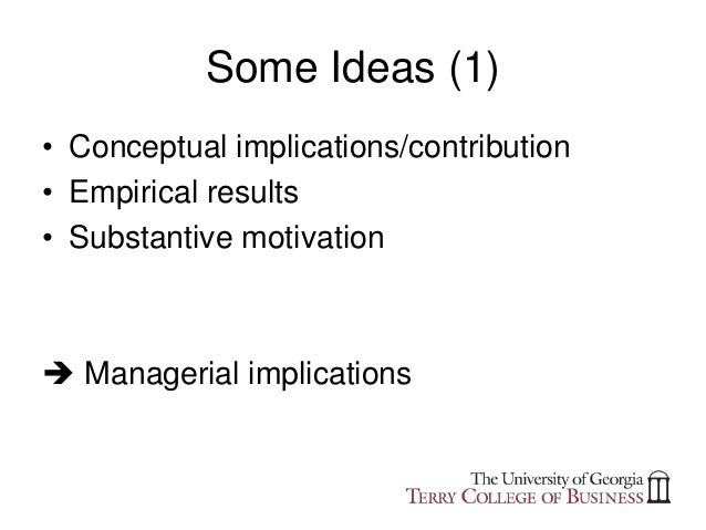 Writing research implications examples