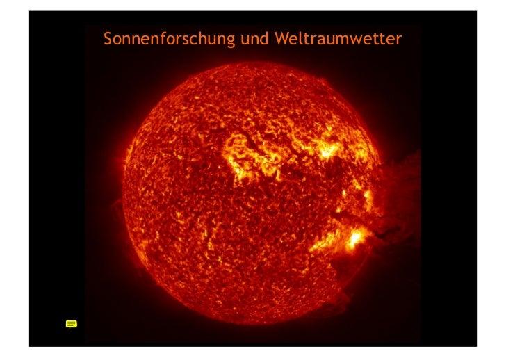 Sonnenlabor - von der direkten Beobachtung zu den neusten Daten Slide 2