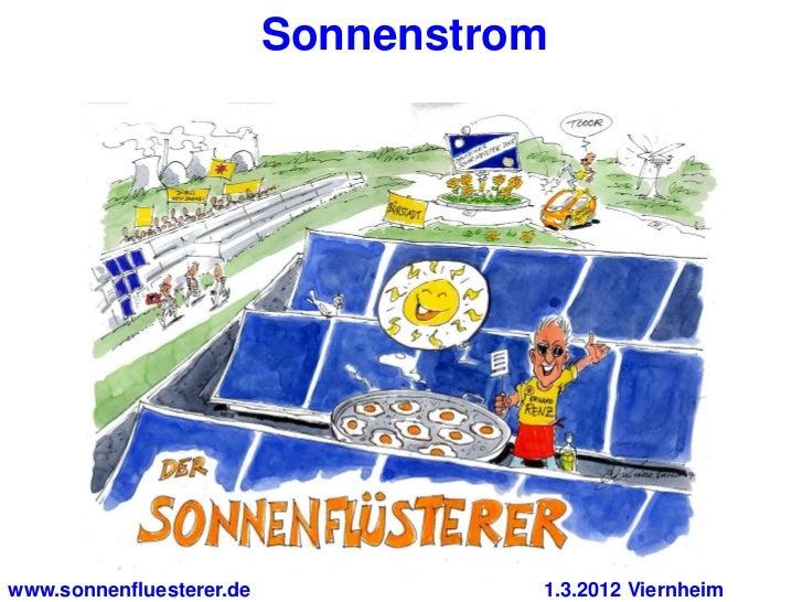 Sonnenstromwww.sonnenfluesterer.de             1.3.2012 Viernheim