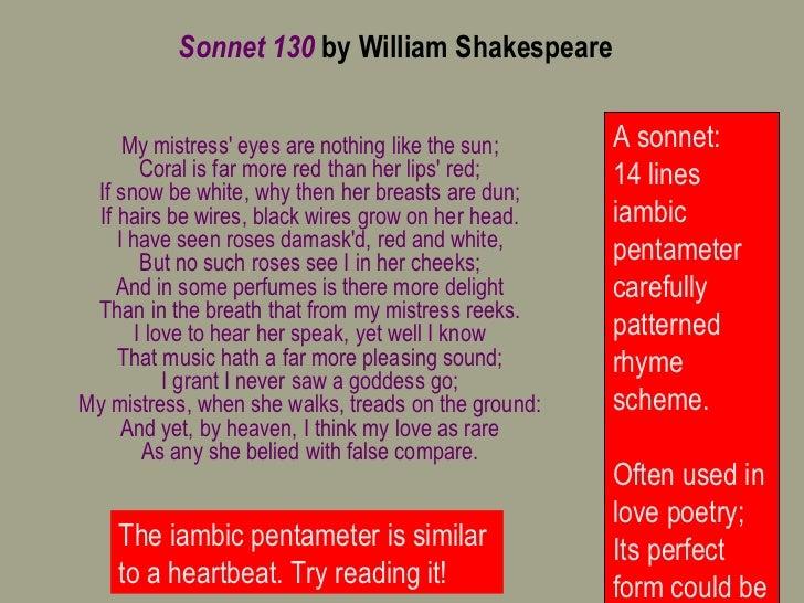 Sonnet 130-lesson