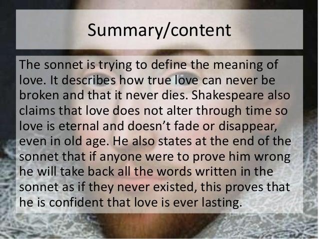 sonnet 116 summary