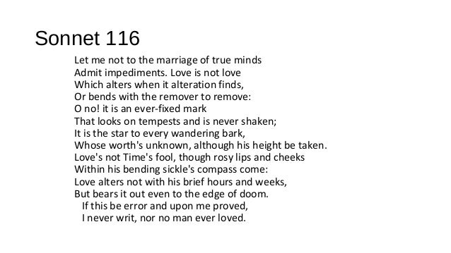 sonnet 116 Translation of 'sonnet 116' by william shakespeare from english to french.