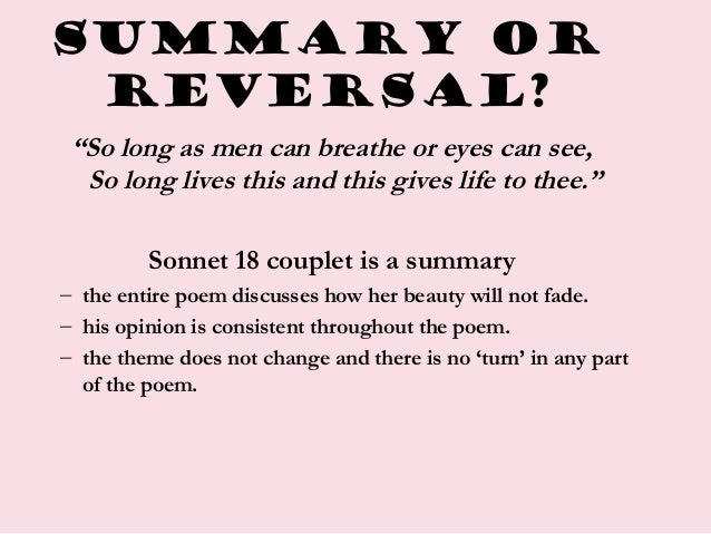 shakespeare's sonnets summary and analysis