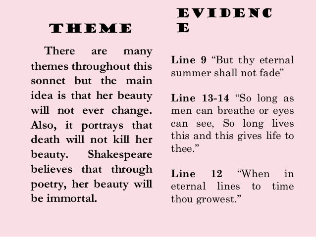 an analysis of the theme of fading beauty in the 12th sonnet by william shakespeare 5 sonnets by william shakespeare sonnet xviii to the wide world and all her fading sweets choose a theme for your sonnet 4.