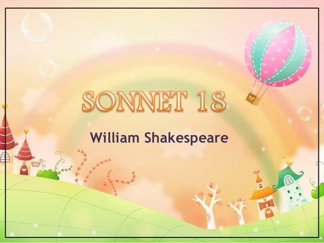 critical appreciation of sonnet 18