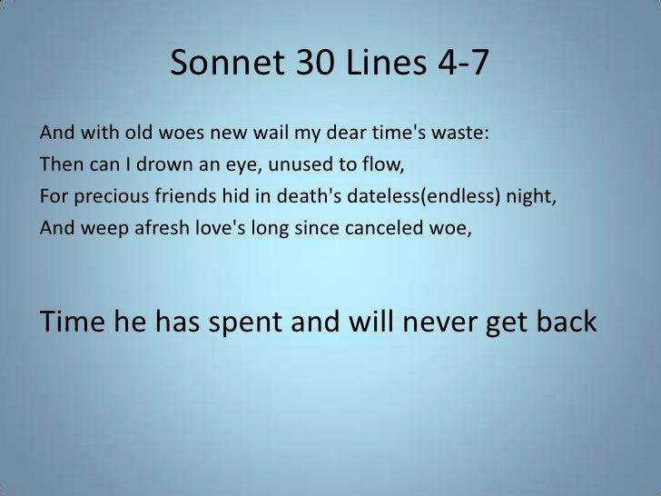 shakespeare sonnet 30 translation