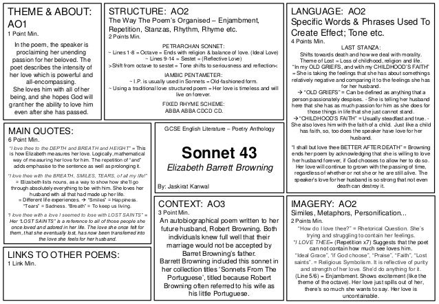 sonnet 43 analysis line by line