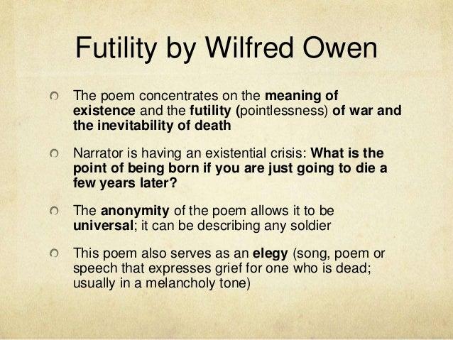 futility owen essay help