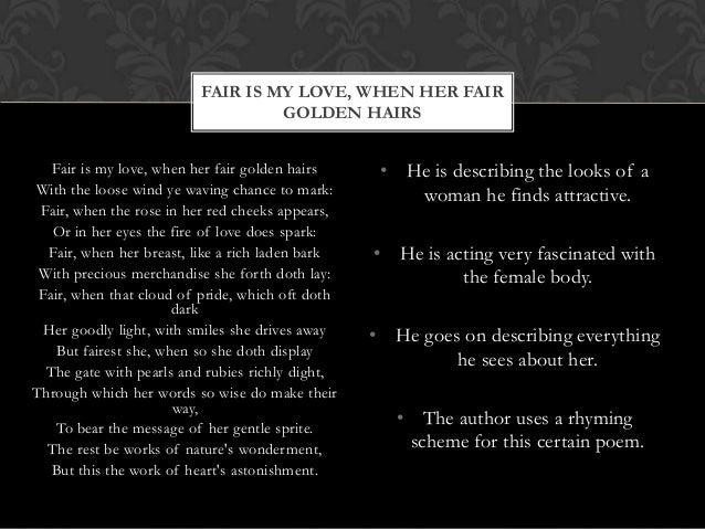 fair is my love