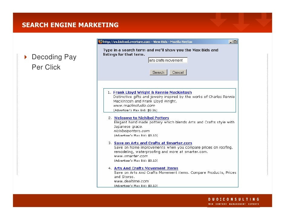 SEARCH ENGINE MARKETING      Decoding Pay   Per Click