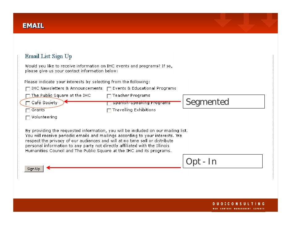 EMAIL EMAIL             Segmented             Opt - In