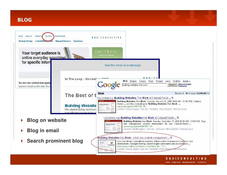 BLOG       Blog on website    Blog in email   Search prominent blog