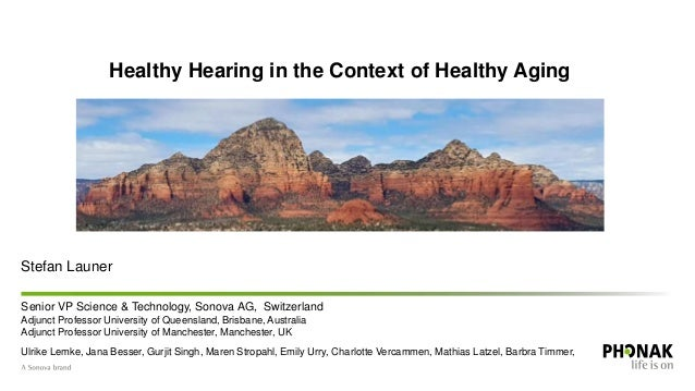 Hearing loss and the associated comorbidities: A conversation with Sonova Slide 2