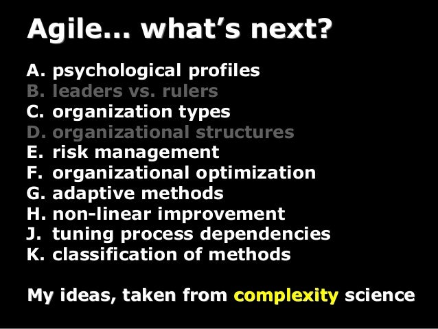 So, Now You're An Agilist, What's Next? Slide 3