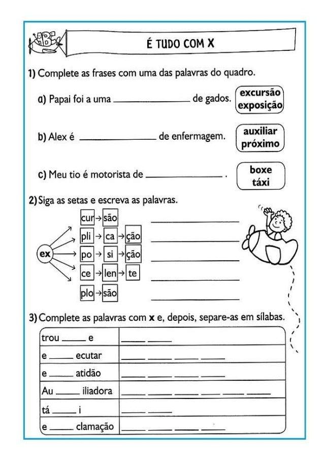 1) Complete as frases com uma das palavras do quadro.   .  . s' a) Papai foi a uma __: ___ de gados.  excur.  a. ° exposiç...