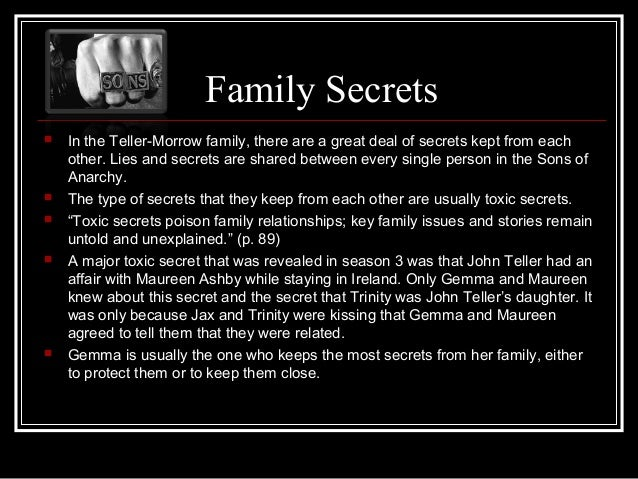 Quotes About Secrets Being Revealed: Sons Of Anarchy Family Collage