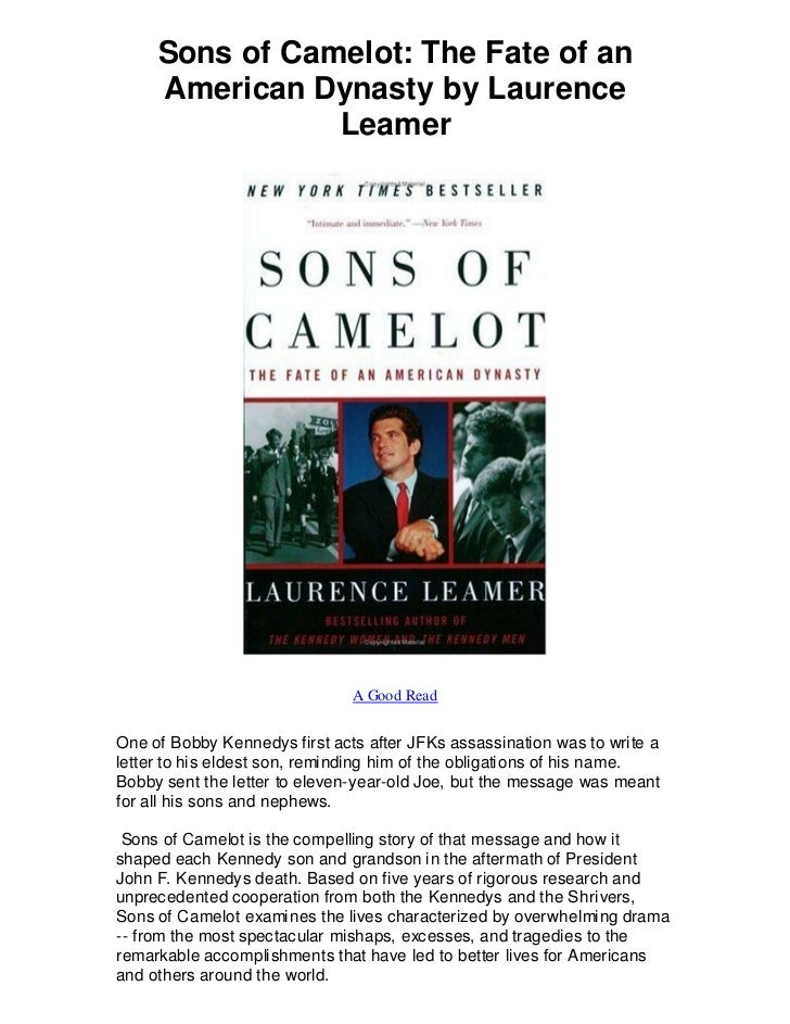 Sons Of Camelot The Fate Of An American Dynasty By A Good Read