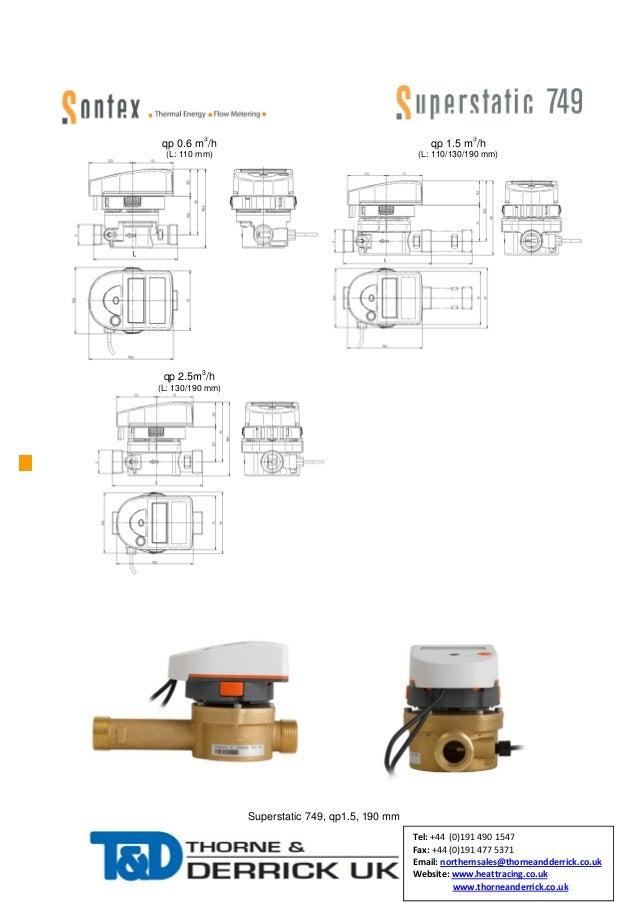 Heat Meters - Sontex Superstatic 749
