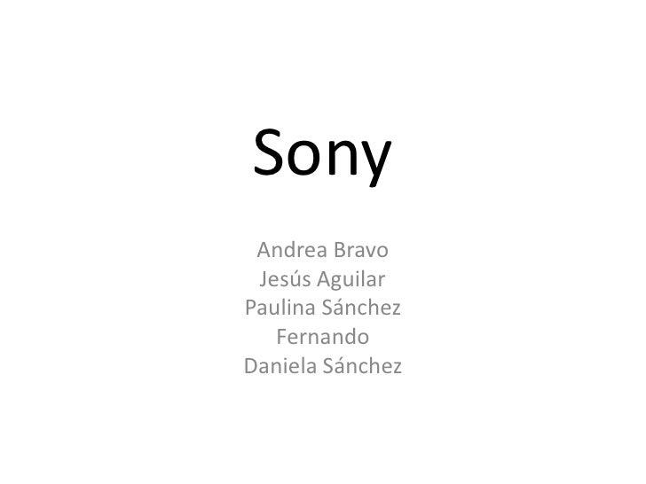 Sony<br />Andrea Bravo<br />Jesús Aguilar<br />Paulina Sánchez<br />Fernando<br />Daniela Sánchez<br />