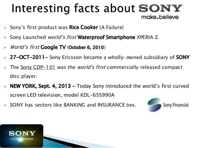 sony competitors analysis