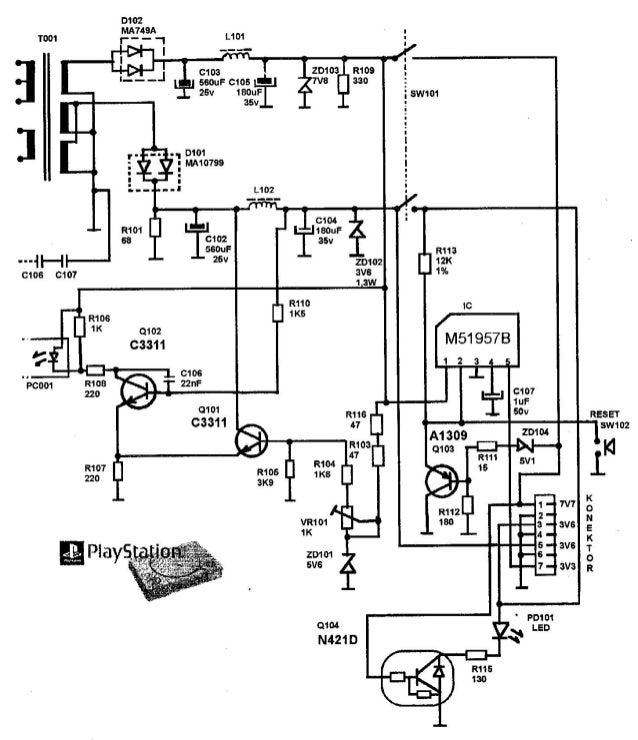 Sony playstation-schematic