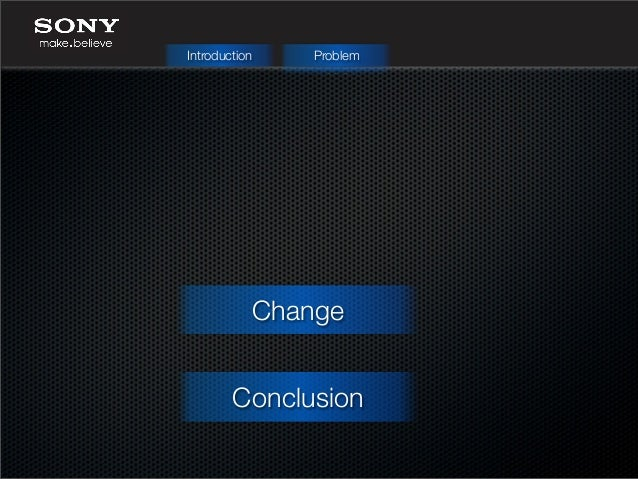 sony change management Presentation about change management by analyzing sony.