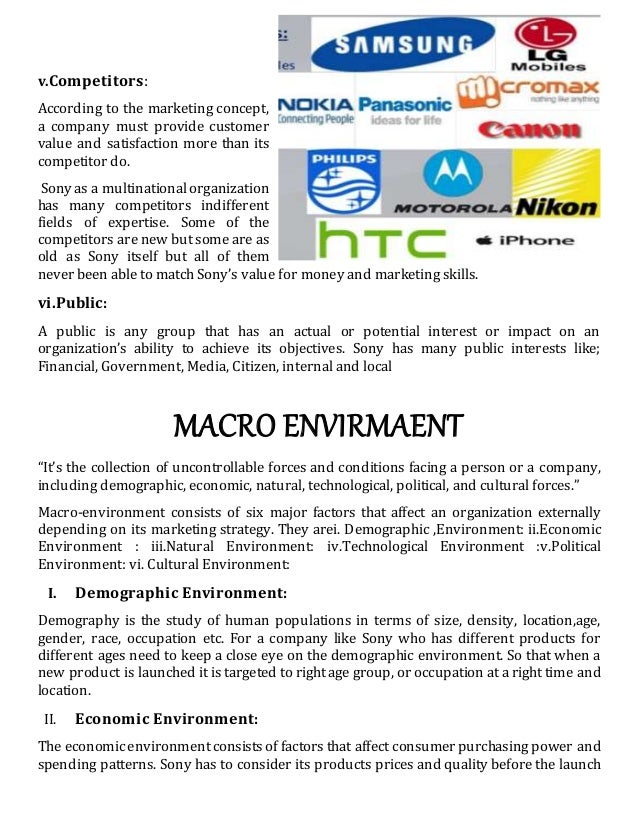 macro environmental changes affecting consumer electronics sony A swot analysis summarizes the key issues from the business environment and  the strategic capability of an  been affected by crisis ie the change in  american  as embark, prime sense, and topsy – and many alliances – eg,  sony, motorola, phillips, and  apple is a trend setter in consumer electronics  business and.