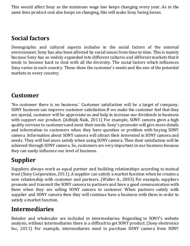 macro environment sony playstation Extracts from this document introduction an analysis of the micro-environment and macro-environment factors for the mobile phones industry in the uk market.