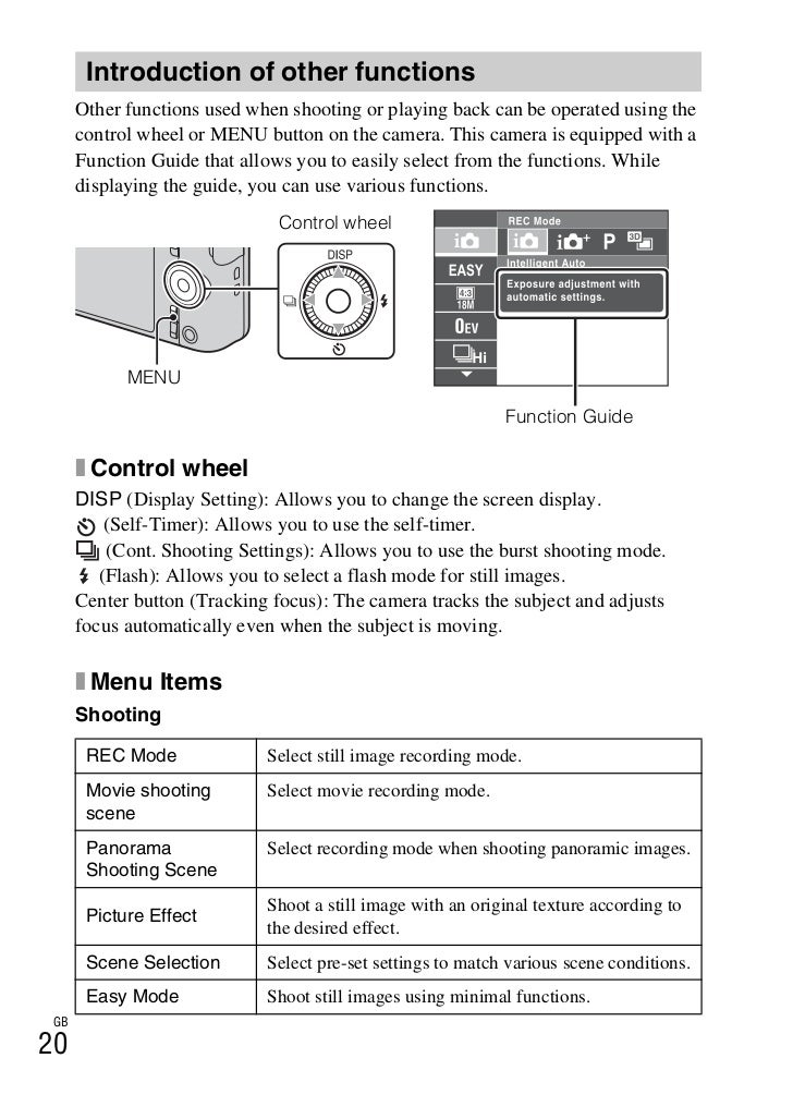 sony cyber shot dsc rx100 manual pdf