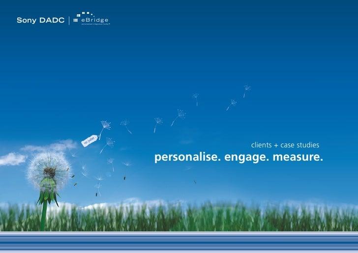 Sony DADC   eBridge             personalised integrated media                                                             ...