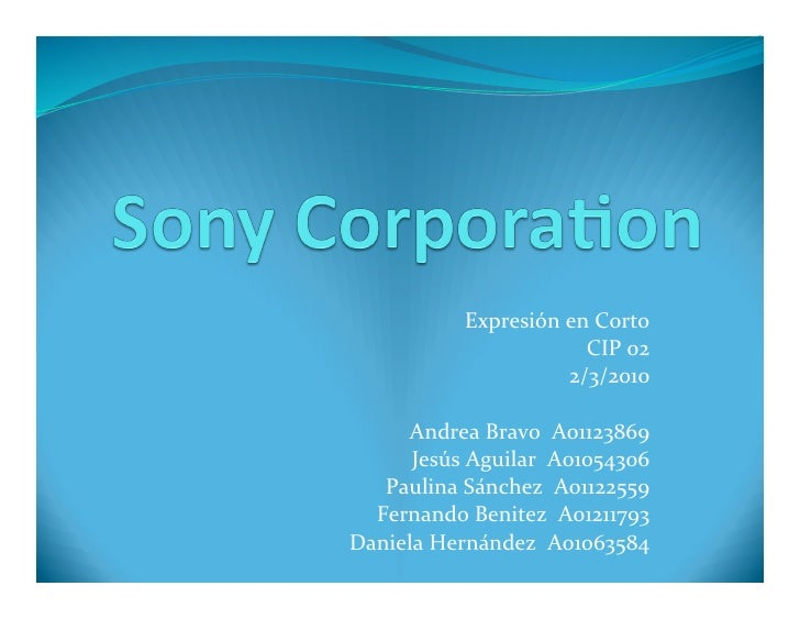 an overview of sony corporation The honda worldwide corporate profile site - company overview: overview of the mobility company that pursues and realizes people's dreams.