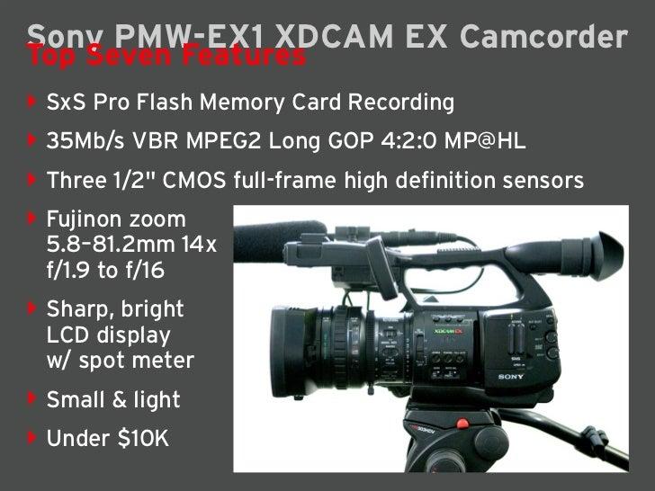 Sony PMW-EX1 Camcorder Slide 2