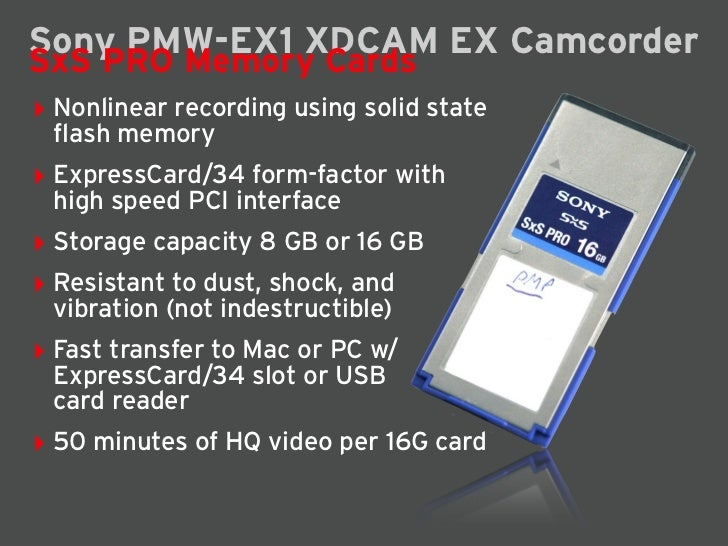 Sony PMW-EX1 Camcorder Slide 3