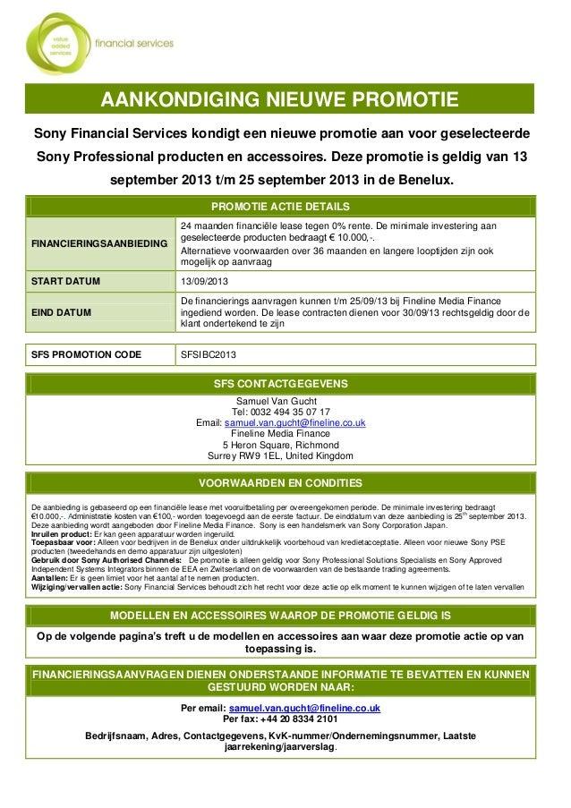 Sony Financial Services kondigt een nieuwe promotie aan voor geselecteerde Sony Professional producten en accessoires. Dez...