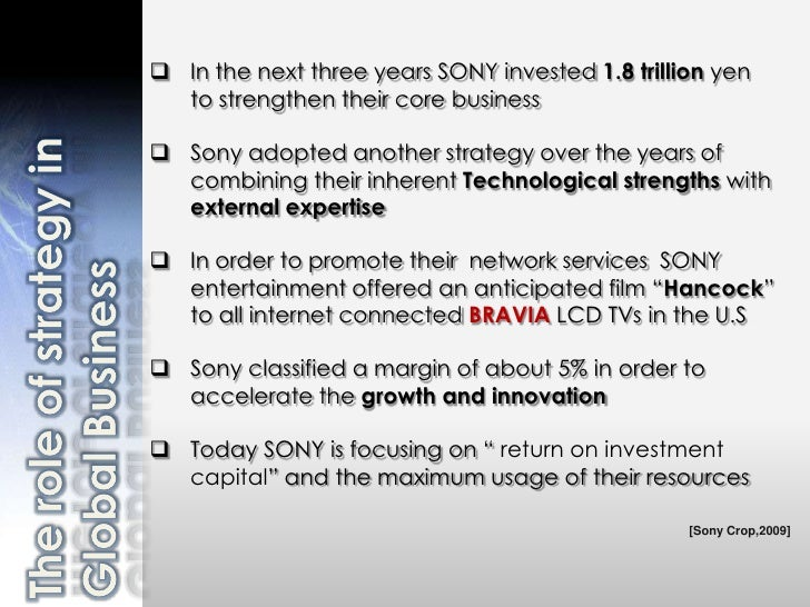 sony strategic position [this is a report based on my personal views about sony, that i had submitted last year as an assignment for an online 'business strategy' course (coursera) from darden school of business.